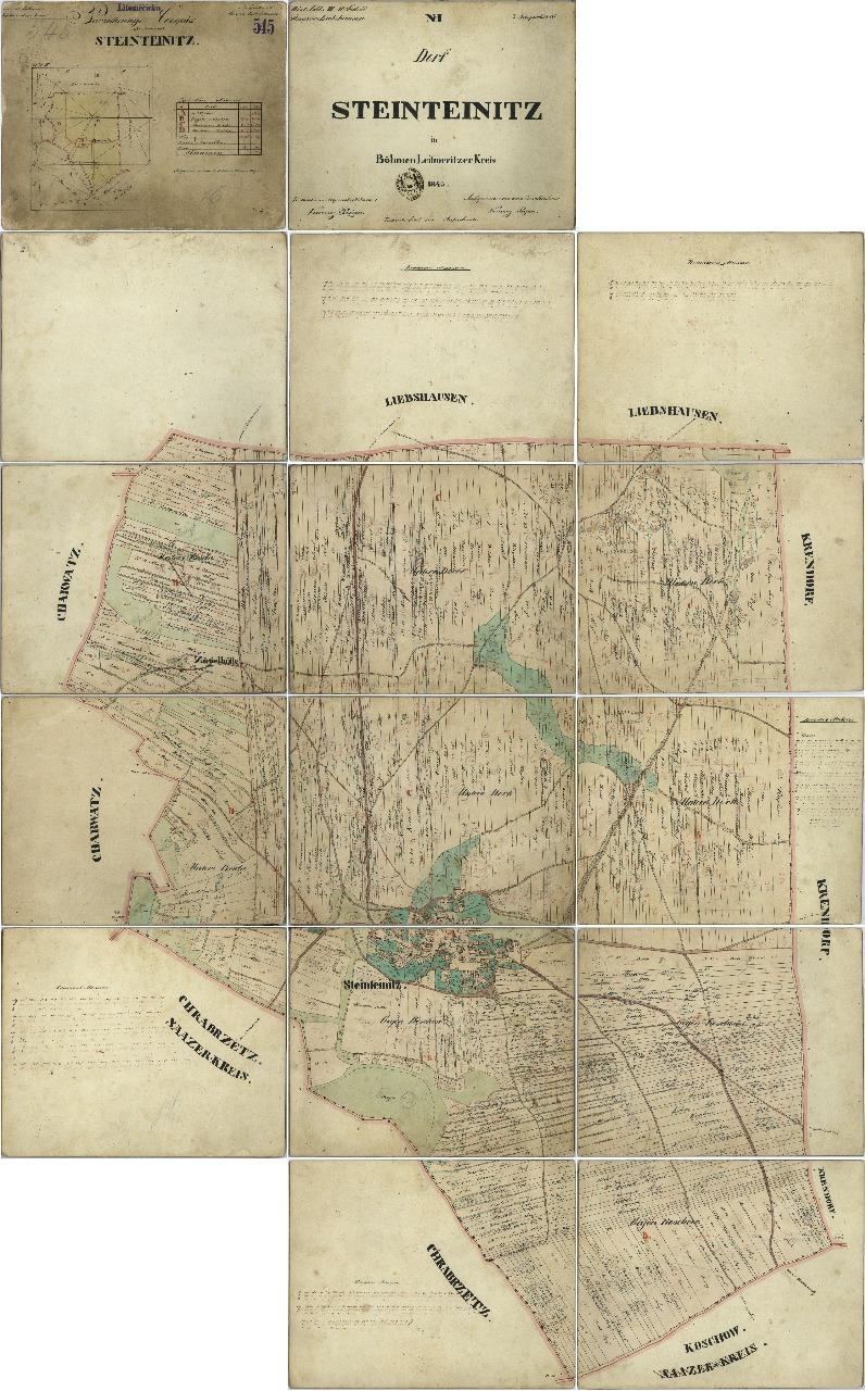 Historická mapa Mnichův Týnec